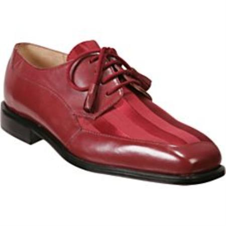 Oxfords Red Shoes Mens - A Unique Twist on a Traditional Dress Shoe Lace-Up Tassels