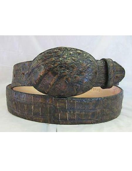 Genuine Authentic Black Brown Crocodile Western Cowboy Cinturon De Cocodrilo