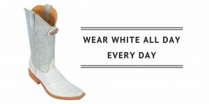 Mens White Cowboy Boots and T-Shirts - Wearing White After Labor Day