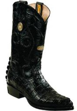 Mens White Diamonds Handmade J Toe Genuine caiman tale Black Boots