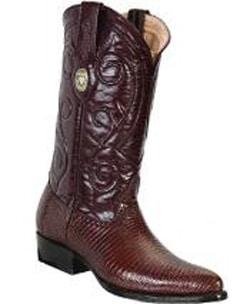 Mens White Diamonds Leather Insole Genuine Lizard Brown Boots