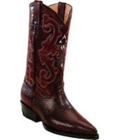 Mens Leather Lining Genuine Lizard Burgundy ~ Wine ~ Maroon Color Boots