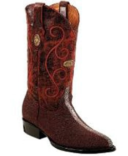 Mens Genuine Stingray mantarraya skin Full Leather Pull Straps Burgundy ~ Wine ~ Maroon Color Boots