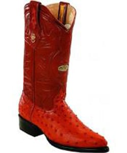 Mens White Diamonds Leather Insole Genuine Full Quill Ostrich Cognac Boots