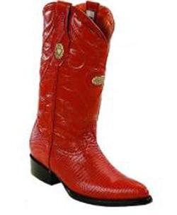 Mens White Diamonds J Toe Genuine Lizard Cognac Boots