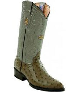 Mens White Diamonds Leather Pull Straps Genuine Full Quill Ostrich Gray Boots