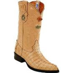 Mens White Diamonds Handcrafted Single Stitched Welt Genuine caiman tale Sand Boots
