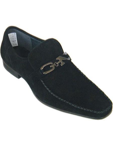 Zota Mens Unique Dress Unique Zota Mens Dress Shoe Brand Men's Black Loafers Style Soft Upper Moc Toe Authentic