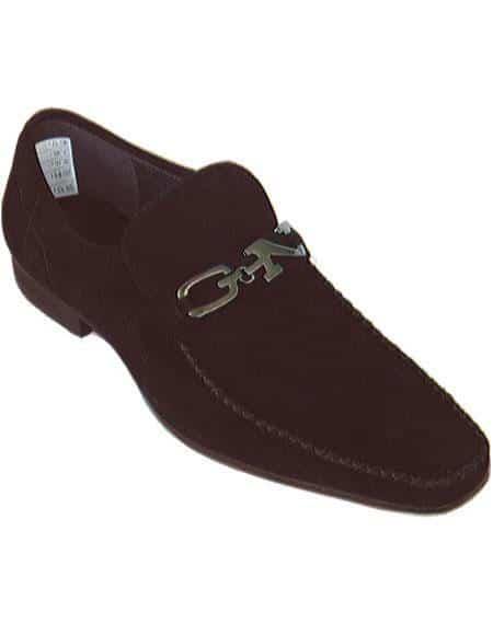 Zota Men's Unique Dress Unique Zota Mens Dress Shoe Brand Men's Brown Stylish Dress Loafer Soft Upper Moc Toe Authentic