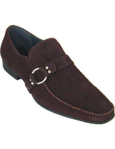 Zota Men's Unique Dress Shoes Brand Men's Brown Stylish Dress Loafer Moc Toe Soft Upper Dress Unique Zota Mens Dress Shoe