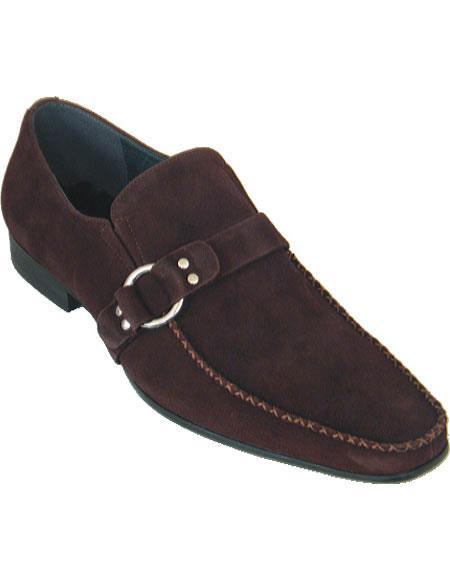 Zota Mens Unique Dress Shoes Brand Men's Brown Loafer Style Moc Toe Soft Upper Dress Unique Zota Mens Dress Shoe