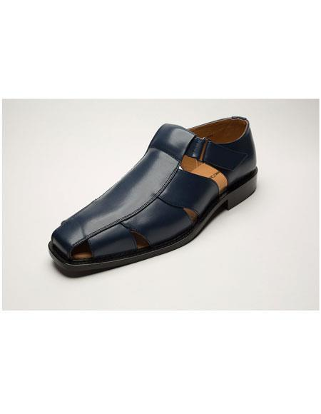 Mens Two Toned Casual Navy Sandal