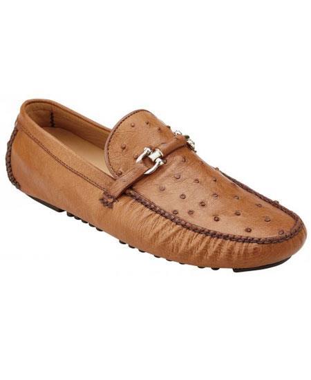 Men's Brandy Slip On Genuine Ostrich ~ Calfskin Casual Sneakers