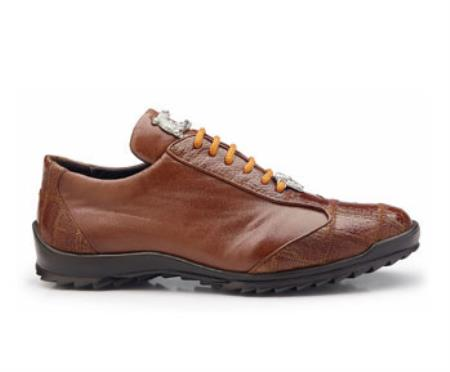 Paulo Authentic Belvedere Exotic Skin Brand Genuine Honey Ostrich and Soft Calf Leather Lining Shoe