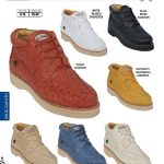 High Top Exotic Skin Sneakers for Men Los Altos Full Genuine Ostrich Men's Casual Shoe Diff. Colors/Sizes