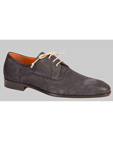 Men's Oxford Grey Sleek Style Leather Sole Shoes Authentic Mezlan Brand