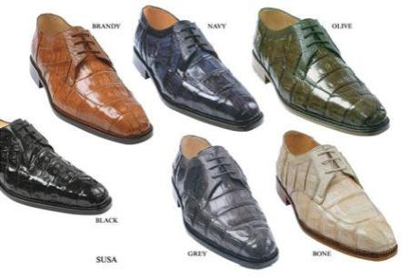 ultra-suave has a genuine Oxfords Crocodile ~ World Best Alligator ~ Gator skin upper with genuine ostrich trimming lace up