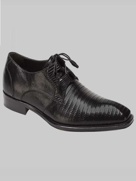 Mezlan Brand Mens Padilla Style Black Genuine Lizard Shoes