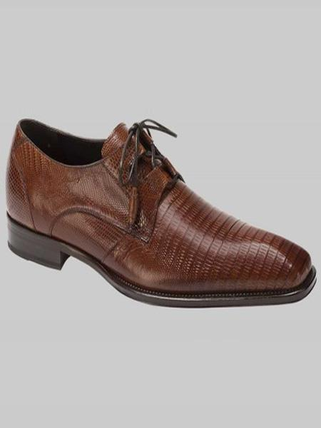 Mezlan Brand Mens Padilla Style Tan Genuine Lizard Shoes