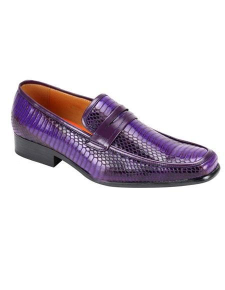 Men's Stylish Slip-On Purple Casual Shoes