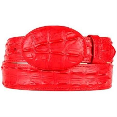 Western Style Belt Red Gator ~ World Best Alligator ~ Gator Skin Print (Imitation)