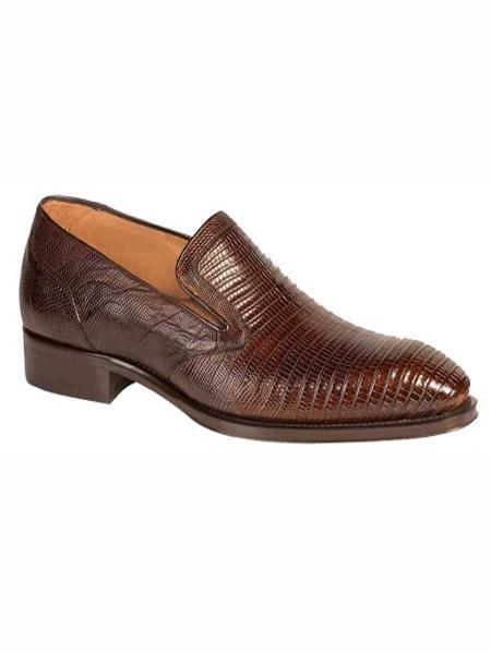 Mezlan Brand Rust Genuine Lizard Loafer Shoes