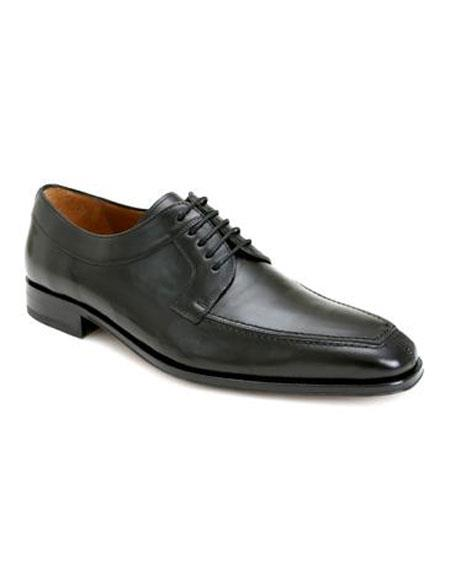 Mens Black Italian Calfskin Lace Up Split Toe Oxford Leather Shoes Authentic Mezlan Brand