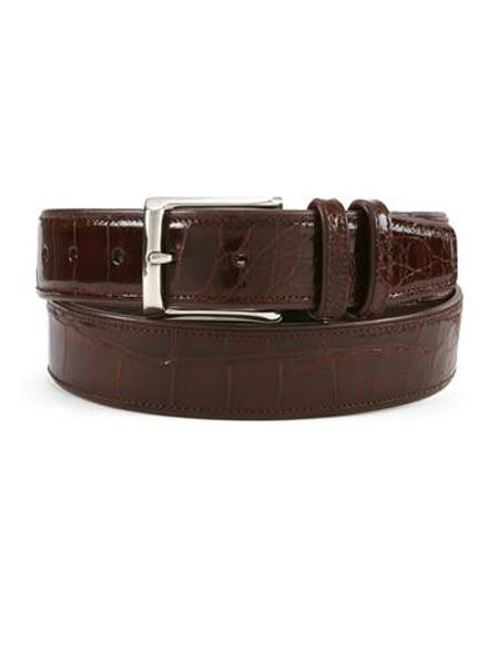 Mezlan Belts Brand Men's Genuine World Best Alligator ~ Gator Skin / Calfskin Sport Skin Belt