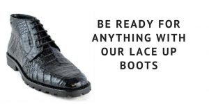 Styling Tips for Men - Wearing Footwear Like Black Lace Up Boots