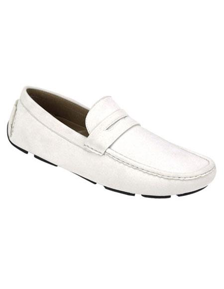 Mens stylish White Casual Slip-On Loafer Oxford Shoes Perfect for Men