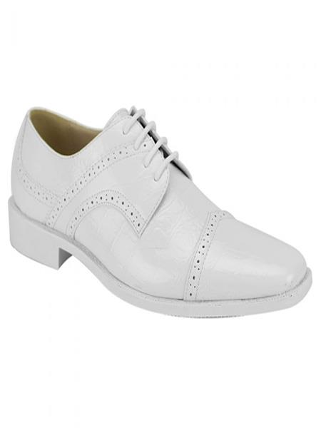 Men's Fashion Two Toned White Dress Oxford Shoes Perfect For Men