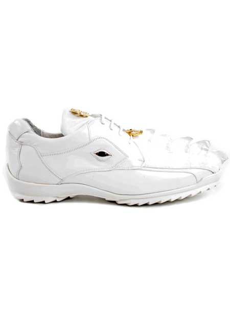 Italian Brand Genuine White Hornback Oxford Shoes