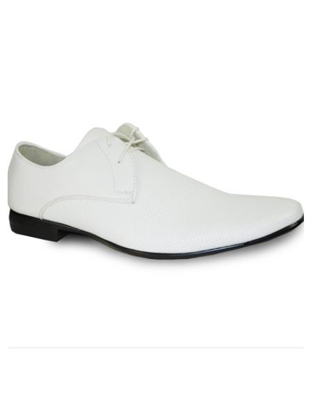 Men White Leather Upper Dress Oxford Shoes Perfect for Men