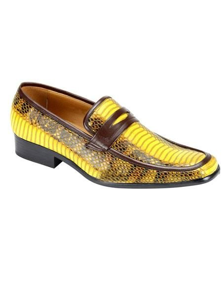 Men's Stylish Slip-On Casual Shoes Yellow