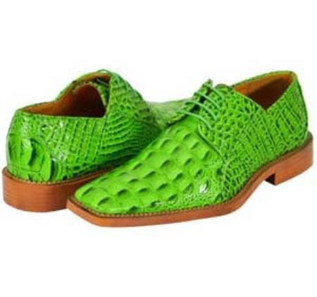 All New lime mint Green Apple Neon Bright Green Mens Dress Shoes