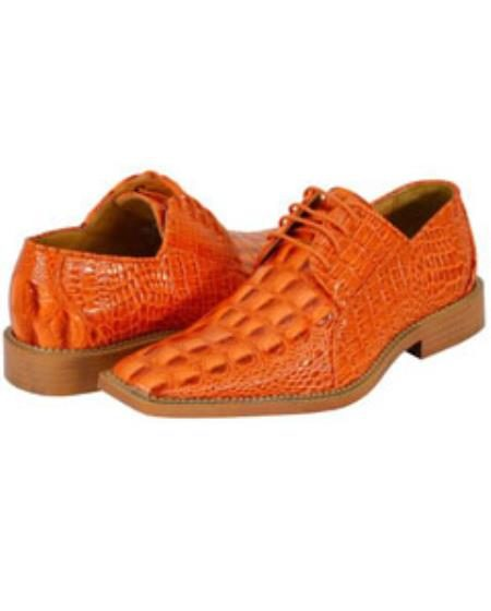 All new orange mens dress shoes