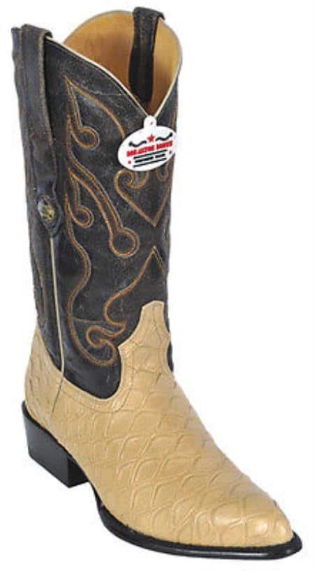 Anteater Print Beige Los Altos Men Cowboy Boots Western Classic Rider