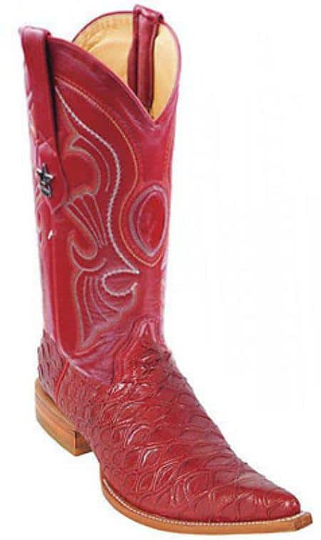 Anteater Print Riding Red Los Altos Mens Western Boots Cowboy Classics