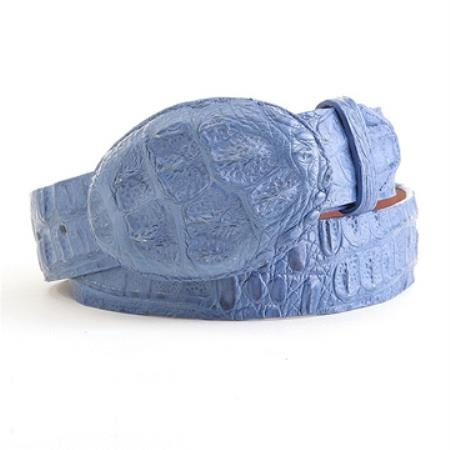 Authentic genuine real blue jean caiman belt