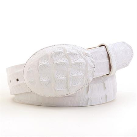 Authentic genuine real white caiman belt