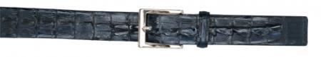 Authentic Skin Navy Blue allover Genuine Crocodile Hornback Belt