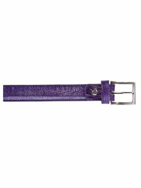 Belvedere allover Genuine Ostrich Leg Belt Purple