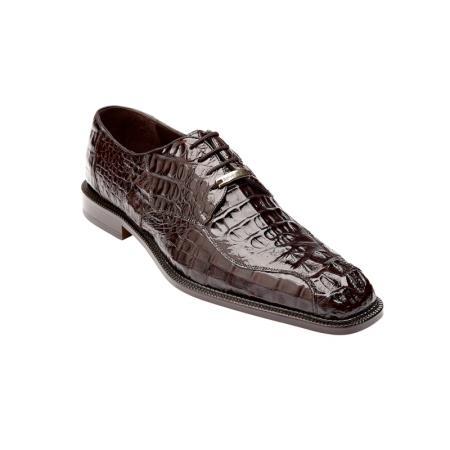 Belvedere Chapo Genuine Hornback / Split Toe Shoes with Metal Detail in Brown
