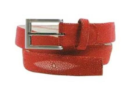 Belvedere genuine stingray belt red