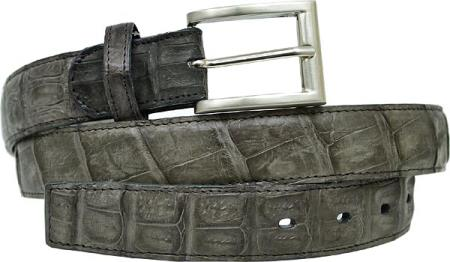 Belvedere Grey allover Genuine Hornback Crocodile Belt