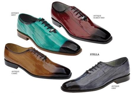 Belvedere  Mens  Shoes  Available  Colors  In  Antique Camel, Antique Mint, Antique Scarlet Red And  Antique Gray