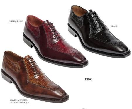 Belvedere  Mens  Shoes  Available  Colors  In  Camel Antique/Almond Antique, Antique Red And Black