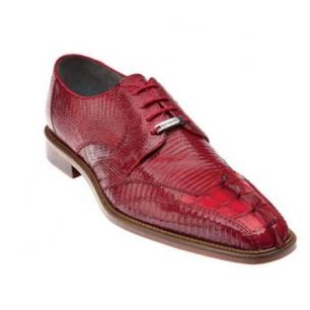 Belvedere Topo Hornback & Lizard Shoes Red
