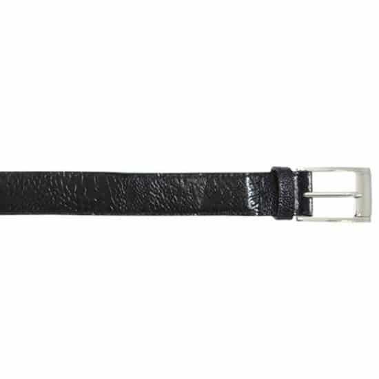 Black AllOver Genuine Ostrich Belt
