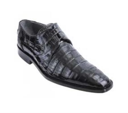 Black Genuine AllOver Crocodile Belly Shoes